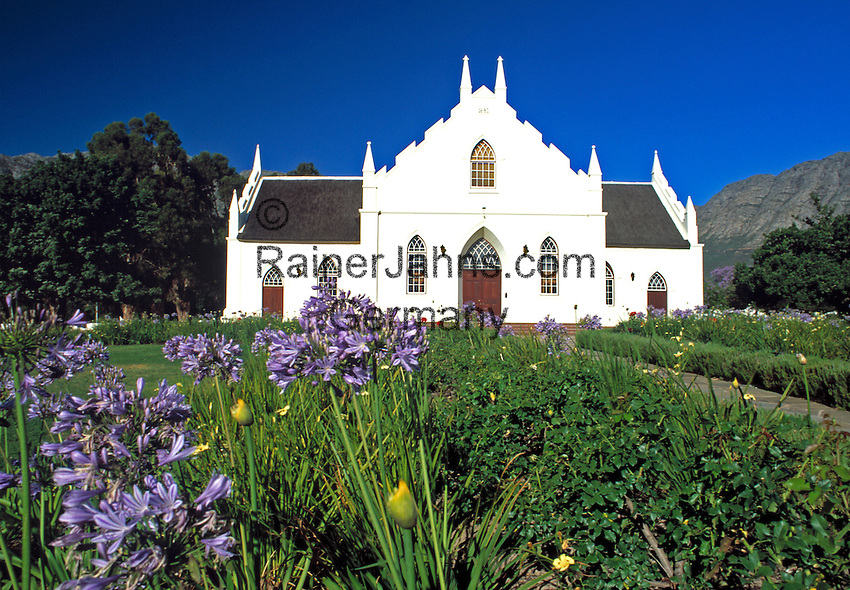 South Africa, Cape Town, Winelands, Franschhoek Valley, Dutch Reformed Church