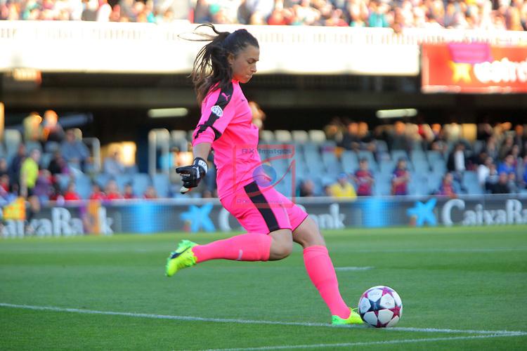 UEFA Women's Champions League 2016/2017.<br /> Quarter Finals.<br /> FC Barcelona vs FC Rosengard: 2-0.<br /> Zecira Musovic.