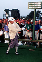 8th April 1999; Augusta GA, USA; Gene Sarazen tees off at the Masters 1999 in Augusta