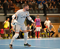 20191012 - HALLE: Benfica's GK Diego Roncaglio is pictured during the UEFA Futsal Champions League Main Round match between FP Halle-Gooik (BEL) and SL Benfica (POR) on 12th October 2019 at De Bres Sportcomplex, Halle, Belgium. PHOTO SPORTPIX | SEVIL OKTEM