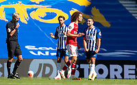 20th June 2020, American Express Stadium, Brighton, Sussex, England; Premier League football, Brighton versus Arsenal ;  Brighton and Hove Albions Neal Maupay celebrates after scoring the winning goal in the 95th minute