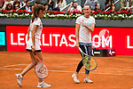 Mariam Hernandez and Martina Hingis during the Charity Day of the Mutua Madrid Open at Caja Magica in Madrid. April 29, 2016. (ALTERPHOTOS/Borja B.Hojas)