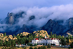 The historic Stanley Hotel in Estes Park, Colorado, Rocky Mountains, USA
