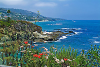Hole in the Rock, Beach, below Montage Resort, Laguna Beach California, seaside resort, artist community, located in southern, Orange County, California, United States