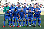 Getafe´s initial team players during 2014-15 La Liga match at Alfonso Perez Coliseum stadium in Getafe, Spain. February 08, 2015. (ALTERPHOTOS/Victor Blanco)