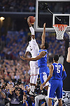 07 April 2014: DeAndre Daniels (2) of the University of Connecticut dunks against the University of Kentucky during the 2014 NCAA Men's DI Basketball Final Four Championship at AT&T Stadium in Arlington, TX. Connecticut defeated Kentucky 60-54 to win the national title. Peter Lockley/NCAA Photos