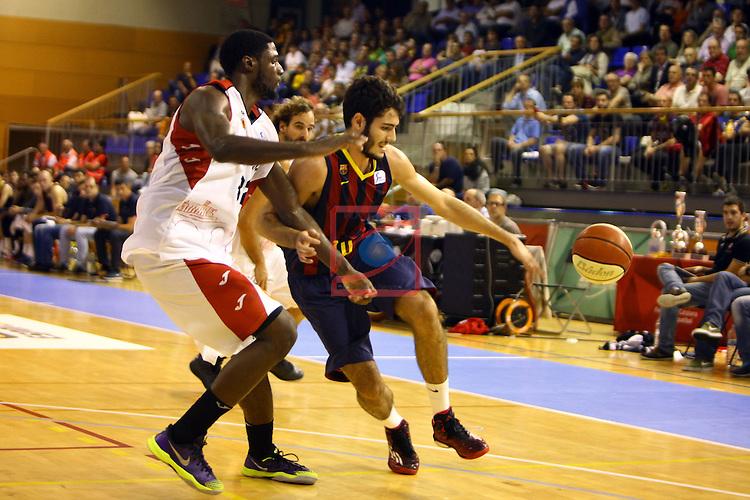 Regal XXXV Llia Nacional Catalana ACB 2014-Semifinals.<br /> FC Barcelona vs La Bruixa d'Or Manresa: 82-66.<br /> Alex Abrines vs Jamar Samuels.