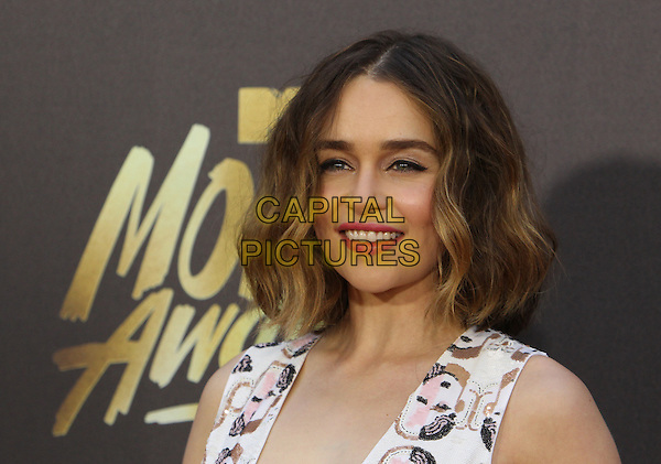 Burbank, CA - April 09 Emilia Clarke Attending 25th Annual MTV Movie Awards at The Warner Brothers Studios On April 09, 2016. <br /> CAP/ADM/FS<br /> &copy;FS/ADM/Capital Pictures