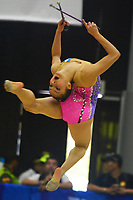 BARRANQUILLA - COLOMBIA, 30-07-2018:Nora Ramírez   (GUA) ,en  gimnasia rítmica .Juegos Centroamericanos y del Caribe Barranquilla 2018. / Nora Ramirez (Gua) inrhythmic gymnastics of the Central American and Caribbean Sports Games Barranquilla 2018. Photo: VizzorImage /  Alfonso Cervantes /Contribuidor