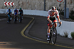 Tadej Pogacar (SLO) UAE Team Emirates attacks on the final climb during Stage 5 the Al Ain Water Stage of the UAE Tour 2020 running 162km from Al Ain to Jebel Hafeet, Dubai. 27th February 2020.<br /> Picture: LaPresse/Fabio Ferrari | Cyclefile<br /> <br /> All photos usage must carry mandatory copyright credit (© Cyclefile | LaPresse/Fabio Ferrari)