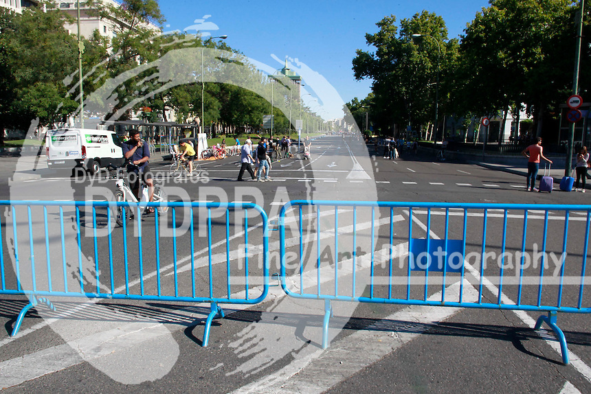 2015 09 20 CUTS OF TRAFFIC IN CENTER OF MADRID BY THE WEEK OF MOBILITY