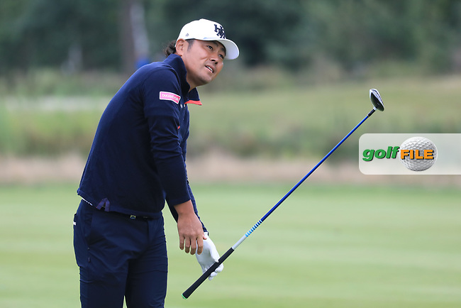 Hideto Tanihara (JPN) in action during the second round of the Porsche European Open , Green Eagle Golf Club, Hamburg, Germany. 06/09/2019<br /> Picture: Golffile | Phil Inglis<br /> <br /> <br /> All photo usage must carry mandatory copyright credit (© Golffile | Phil Inglis)
