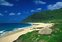 Keawa Ula Bay ( also know as Yokohama bay beach) is a wonderful, secluded beach of Oahu's leeward coast.