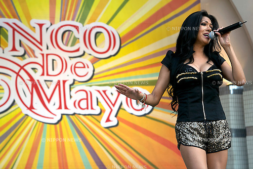 "May 5, 2013, Tokyo, Japan - The Mexican singer Fabiola Jaramillo performs at ""Cinco de Mayo"" festival in Tokyo. ""Cinco de Mayo"" festival was held in Japan for the first time to celebrate all of the Americas from May 3 to 4 at Yoyogi Park. This is originally one of the biggest Latin festival in USA. (Photo by Rodrigo Reyes Marin/AFLO)"