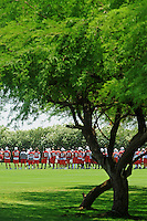 Jun 9, 2008; Tempe, AZ, USA; Arizona Cardinals players conduct drills during mini camp at the Cardinals practice facility. Mandatory Credit: Mark J. Rebilas-