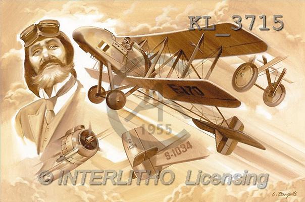 Interlitho, Luis, MASCULIN, paintings, planes, pilot(KL3715,#M#)