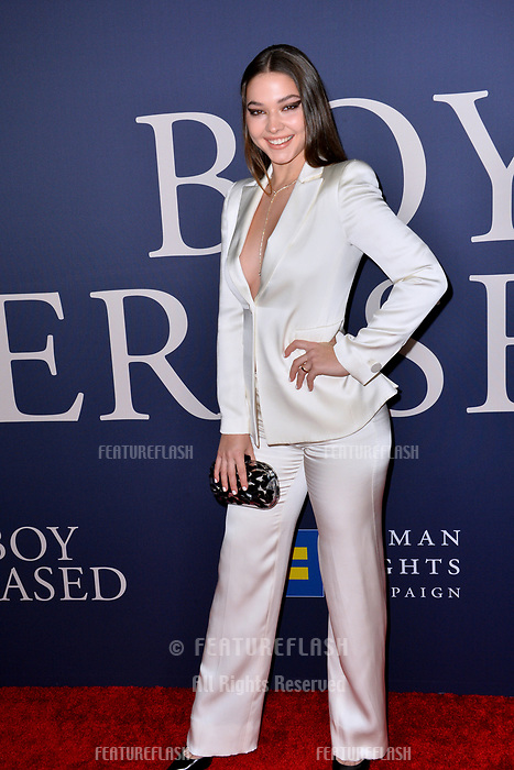 LOS ANGELES, CA. October 29, 2018: Madelyn Cline at the Los Angeles premiere for &quot;Boy Erased&quot; at the Directors Guild of America.<br /> Picture: Paul Smith/Featureflash