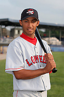 Lowell Spinners Luis Segovia poses for a photo before a NY-Penn League game at Dwyer Stadium on July 21, 2006 in Batavia, New York.  (Mike Janes/Four Seam Images)