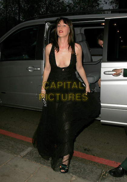 LUCY RUSEDSKI  .UK FiFi Awards, The Dorchester, London, England..April 23rd, 2007.fragrance foundation full length car black dress low cut plunging neckline cleavage .CAP/AH.©Adam Houghton/Capital Pictures