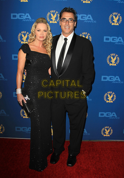 Frank Capra III, Julie Quinn.65th Annual Directors Guild Of America Awards - Arrivals - Press Room Held At The Ray Dolby Ballroom at Hollywood & Highland Center, Hollywood, California, USA..February 2nd, 2013.full length black dress suit.CAP/ADM/KB.©Kevan Brooks/AdMedia/Capital Pictures.