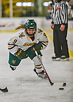 2 February 2013: University of Vermont Catamount defender Danielle Rancourt, a Junior from Sudbury, Ontario, in action against the University of New Hampshire Wildcats at Gutterson Fieldhouse in Burlington, Vermont. The Lady Wildcats defeated the Lady Catamounts 4-2 in Hockey East play. Mandatory Credit: Ed Wolfstein Photo