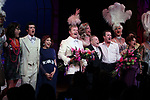 """Kelsey Grammer, Jerry Herman, Douglas Hodges, Christine Andreas with ensemble cast<br />during the Broadway Opening Night Performance Curtain Call for  """"La Cage Aux Folles""""  at the Longacre Theatre in New York City.<br />April 18, 2010"""