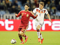 Spain's Isco (l) and Germany's Durm during international friendly match.November 18,2014. (ALTERPHOTOS/Acero) /NortePhoto<br />