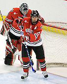 Brad Thiessen (Northeastern - 39), Yale Lewis (Northeastern - 20) - The Boston College Eagles defeated the visiting Northeastern University Huskies 7-1 on Friday, March 9, 2007, to win their Hockey East quarterfinals matchup in two games at Conte Forum in Chestnut Hill, Massachusetts.