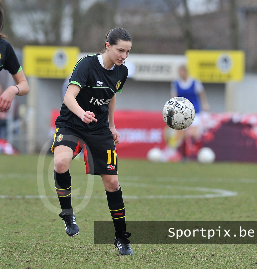 Denmark U17 - Belgium U17 : 11 Shayna Raekelboom.foto DAVID CATRY / Vrouwenteam.be