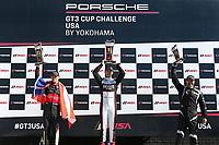 Race 2, Gold Podium, #72 JZ Motorsports, Porsche 991 / 2015, GT3G: Jonathon Ziegelman, #25 NGT Motorsport, Porsche 991 / 2016, GT3G: Victor Gomez IV, #5 TPC Racing, Porsche 991 / 2016, GT3G: Rob Ferriol