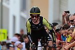 Adam Yates (GBR) Mitchelton-Scott on the 17% climb during Stage 13 of the 2019 Tour de France an individual time trial running 27.2km from Pau to Pau, France. 19th July 2019.<br /> Picture: Colin Flockton | Cyclefile<br /> All photos usage must carry mandatory copyright credit (© Cyclefile | Colin Flockton)