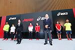 (L-R)  Lomano Lemeki, Yuki Tenma, Seiko Hashimoto, Ryohei Kato, Saori Yoshida,  Hiroya Otsuki, Runa Imai, Atsushi Yamamoto (JPN), MAY 26, 2016 - : A press conference about presentation of Japan national team official sportswear for Rio de Janeiro Olympics 2016 in Tokyo, Japan. (Photo by Sho Tamura/AFLO SPORT)