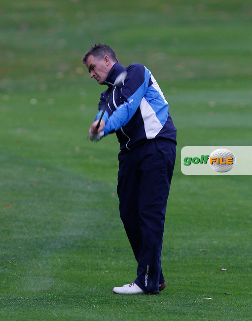 Donal McSweeney (Lahinch) on the 18th during Round 2 of the 104th Irish PGA Championship at Adare Manor Golf Club on Friday 3rd October 2014.<br /> Picture:  Thos Caffrey / www.golffile.ie
