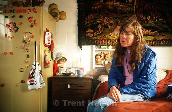 Strange woman who lived at the Hideaway Motel.<br />