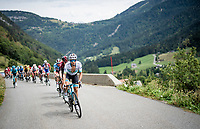 Alexey Lutsenko (KAZ/Astana) racing in the French Alps<br /> <br /> Stage 5: Megève to Megève (154km)<br /> 72st Critérium du Dauphiné 2020 (2.UWT)<br /> <br /> ©kramon