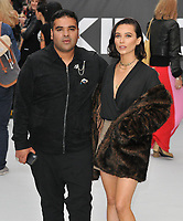 "Naughty Boy (Shahid Khan) and guest at the ""King of Thieves"" world film premiere, Vue West End, Leicester Square, London, England, UK, on Wednesday 12 September 2018.<br /> CAP/CAN<br /> ©CAN/Capital Pictures"