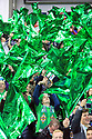 BELFAST, NORTHERN IRELAND - Nov 09: Northern Ireland fan takes a selfie during the Switzerland's v Northern Ireland's 2018 FIFA World Cup play-offs first leg soccer match at Windsor Park, in Belfast, Northern Ireland November 9, 2017. Photo/Paul McErlane
