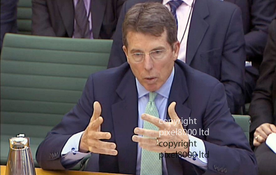 Sky News Jeff Randall interviews Marcus Agius about Bob Diamonds resignation.....Picture by Pixel8000 07917221968Bob Diamond resigned head of Barclays gives evidence to the Select committee at pariliament today.4.7.12....Picture by Pixel8000 07917221968