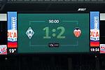 05.08.2017, Weser Stadion, Bremen, FSP, SV Werder Bremen (GER) vs FC Valencia (ESP) , <br /> <br /> im Bild | picture shows<br /> Anzeigetafel mit Endstand, <br /> <br /> Foto &copy; nordphoto / Rauch