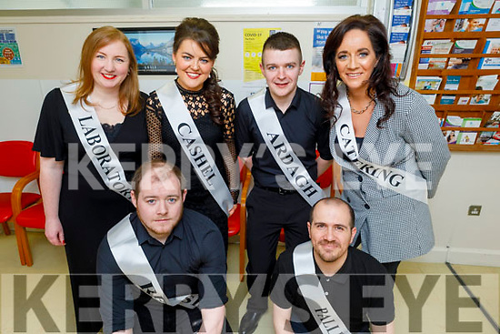 Contestants launching the Sickly Come Dancing Relaspe at UHK on Monday. <br /> Kneeling Darragh Crowley, Omar Bushiha<br /> Back l to r: Niamh Murphy, Samantha Stackpoole, Billy O'Donoghue and Linda McCarthy.