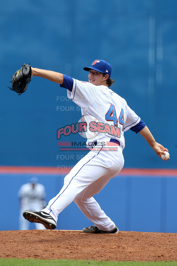 St. Lucie Mets pitcher Taylor Whitenton #44 during a game against the Jupiter Hammerheads at Digital Domain Park on May 2, 2012 in Port St. Lucie, Florida.  St. Lucie defeated Jupiter 3-2.  (Mike Janes/Four Seam Images)