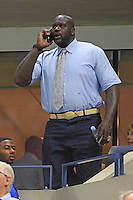 FLUSHING NY- SEPTEMBER 06: Shaquille O'Neal seen watching Novak Djokovic Vs Jo Wilfred Tsonga on Arthur Ashe Stadium during the 2016 US Open Tennis Tournament on September 6, 2016 in Flushing, Queens. Credit: mpi04/MediaPunch