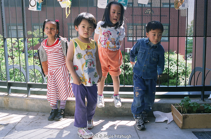 Children at the International District site of the DLEC.