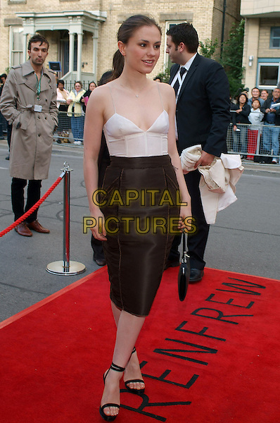 """ANNA PAQUIN.""""Away From Her"""" Premiere during the 2006 Toronto International Film Festival held at Roy Thomson Hall, Toronto, Ontario, Canada..September 11th, 2006.Ref: ADM/BPC.full length white top singlet brown skirt.www.capitalpictures.com.sales@capitalpictures.com.©Brent Perniac/AdMedia/Capital Pictures"""