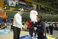 SCHAATSEN: HEERENVEEN: IJsstadion Thialf, 04-03-2005, VikingRace, Koen Verweij (NED), Hubert Hirschbichler (GER), Sven Kramer, ©foto Martin de Jong