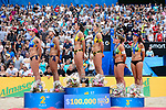 26.08.2017, Hamburg, Stadion Am Rothenbaum<br />Beachvolleyball, World Tour Finals<br /><br />2. Platz / Silber / Silbermedaille: Agatha Bednarczuk (#1 BRA) / Eduarda (Duda) Santos Lisboa (#2 BRA), 1. Platz / Gold / Goldmedaille: Kira Walkenhorst (#2 GER) / Laura Ludwig (#1 GER), 3. Platz / Bronze / Bronzemedaille: Larissa Franca (#1 BRA) / Talita Antunes (#2 BRA) / Podium<br /><br />  Foto © nordphoto / Kurth