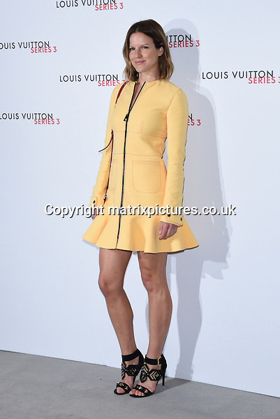 NON EXCLUSIVE PICTURE: MATRIXPICTURES.CO.UK<br /> PLEASE CREDIT ALL USES<br /> <br /> WORLD RIGHTS<br /> <br /> British actress Fuchsia Sumner attending the Louis Vuitton Series 3 Exhibition launch party, in London. <br /> <br /> SEPTEMBER 20th 2015<br /> <br /> REF: SLI 152927