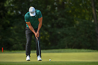 Brooks Koepka (USA) watches his putt on 9 during 4th round of the 100th PGA Championship at Bellerive Country Club, St. Louis, Missouri. 8/12/2018.<br /> Picture: Golffile | Ken Murray<br /> <br /> All photo usage must carry mandatory copyright credit (&copy; Golffile | Ken Murray)