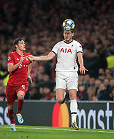 Jan Vertonghen of Spurs & Benjamin Pavard of Bayern Munich during the UEFA Champions League group match between Tottenham Hotspur and Bayern Munich at Wembley Stadium, London, England on 1 October 2019. Photo by Andy Rowland.