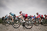 Action from the 117th edition of Paris-Roubaix 2019, running 257km from Compiegne to Roubaix, France. 14th April 2019<br /> Picture: ASO/Pauline Ballet | Cyclefile<br /> All photos usage must carry mandatory copyright credit (&copy; Cyclefile | ASO/Pauline Ballet)
